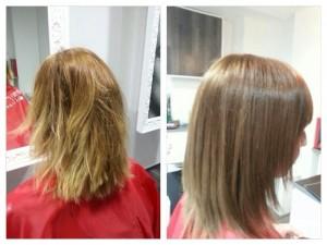 A kezelés mélyen ápolja, táplálja a haj szerkezetét, a haj visszanyeri természetes vitalitását