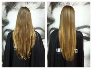 Könnyen kezelhető, csillogó és egészséges  haj a kezelés után!