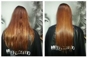 A keratin újraépíti a haj szerkezetét.